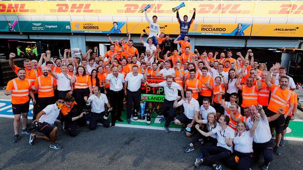 McLaren - Siegerfoto - GP Italien 2021