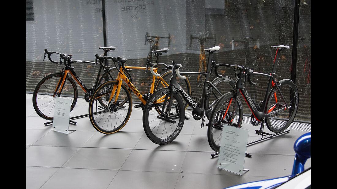 McLaren/Specialized Fahrräder Venge und Tarmac