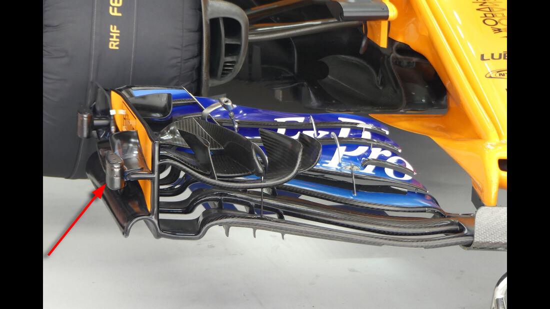 McLaren - Technik - GP Singapur, Russland & Japan 2018