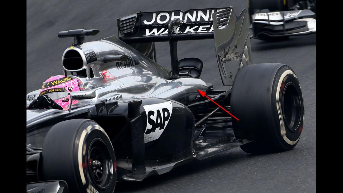 McLaren - Technik - GP Ungarn/GP Deutschland 2014