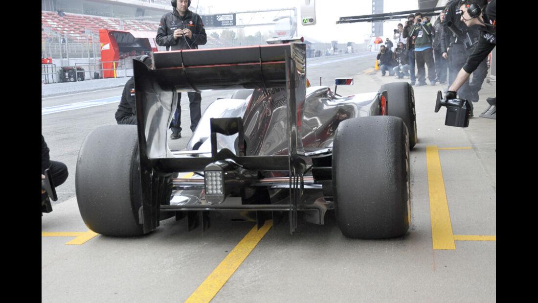 McLaren Test 2012 Heckflügel