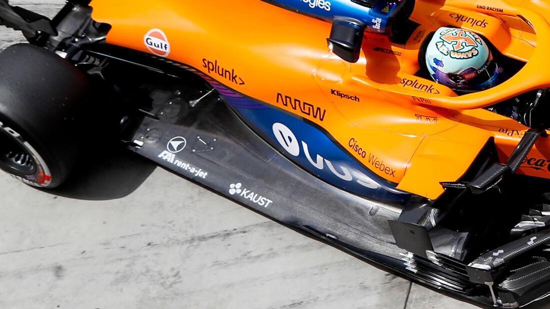 McLaren - Unterboden - F1-Test - Bahrain - 2021