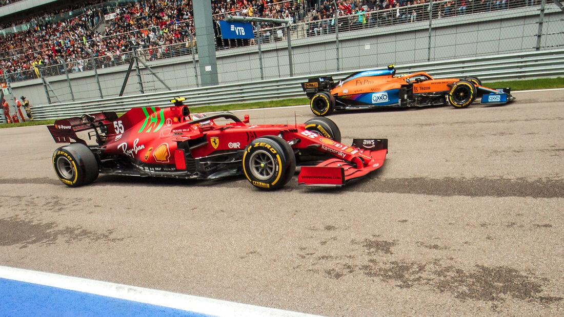 McLaren vs. Ferrari - Formel 1 - GP Russland 2021