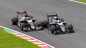 McLaren vs. Toro Rosso - GP Japan 2016