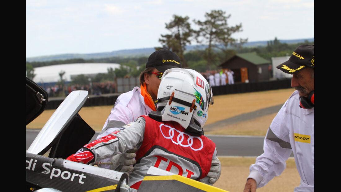 McNish Crash Le Mans 2011