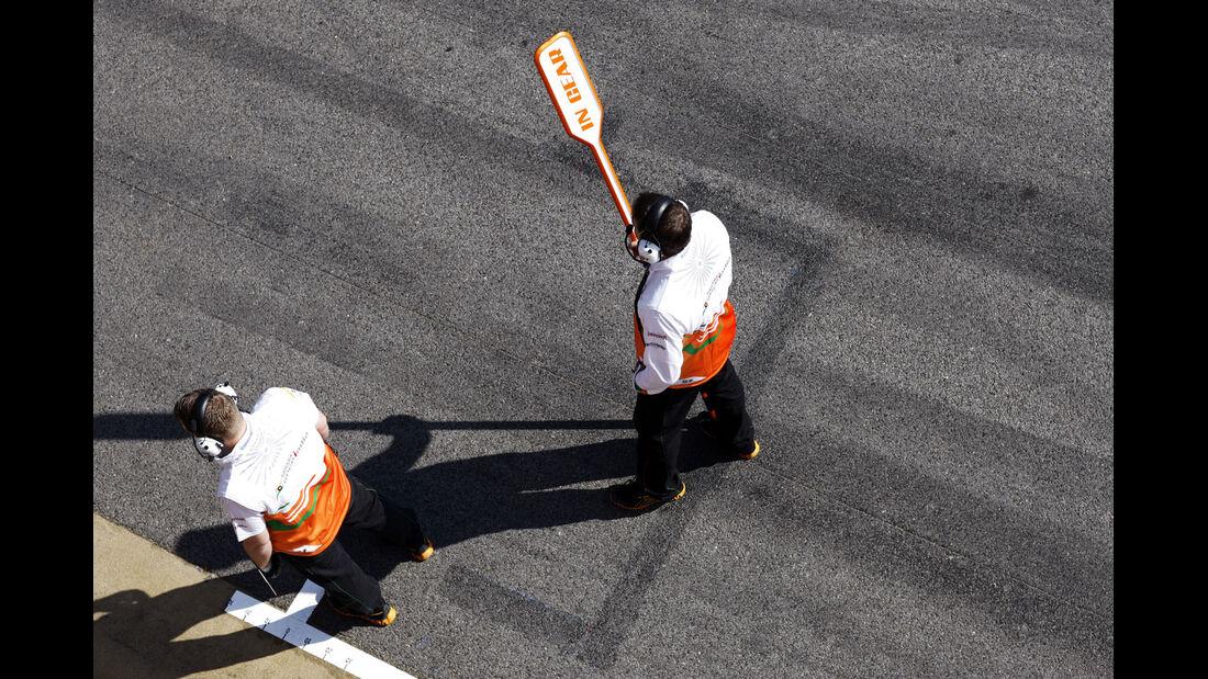 Mechaniker, Force India, Formel 1-Test, Barcelona, 20. Februar 2013