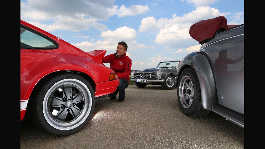 Mechatronik-Mercedes SL, Memminger-VW Käfer, K & F-Porsche 911