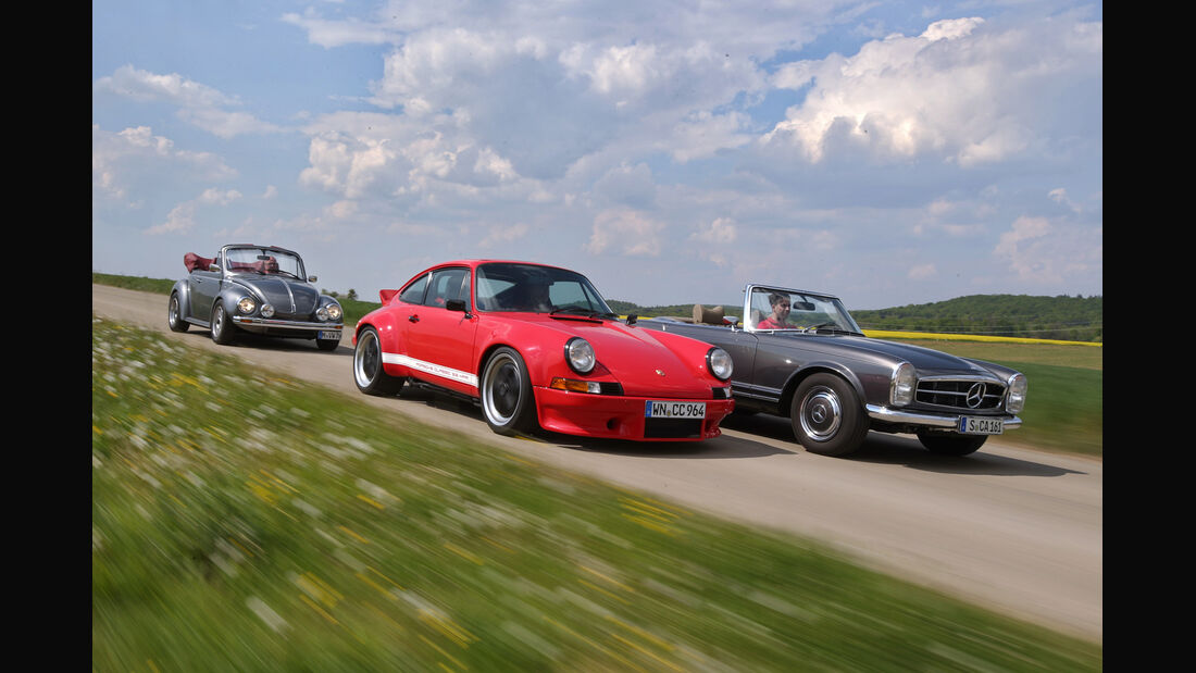 Mechatronik-Mercedes SL, Memminger-VW Käfer, K & F-Porsche 911