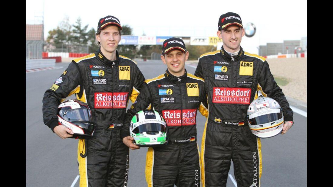 Meister 2011 Manuel Metzger, Carsten Knechtges, Tim Scheerbarth, VLN, Langstreckenmeisterschaft, Nürburgring