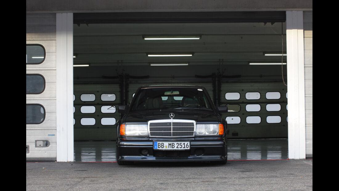 Mercedes 190 E 2.5-16 EVO II, Frontansicht, Scheinwerfer