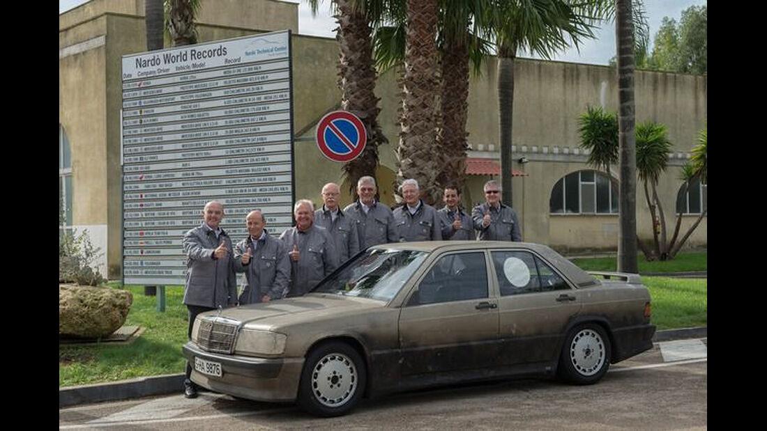 Mercedes 190 E, Nardo, Rekordfahrten