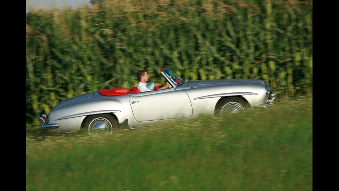 Mercedes 190 SL, Seitenansicht