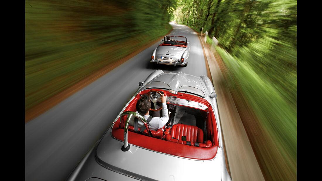 Mercedes 190 SL und 190 SLR, Ausfahrt, Impression