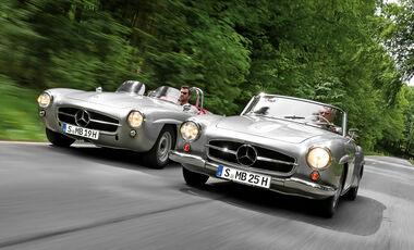 Mercedes 190 SL und 190 SLR, Fronansicht