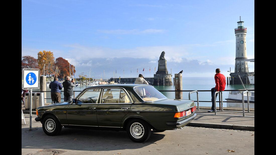 Mercedes 200 D, W123, Oberschwaben, Impression