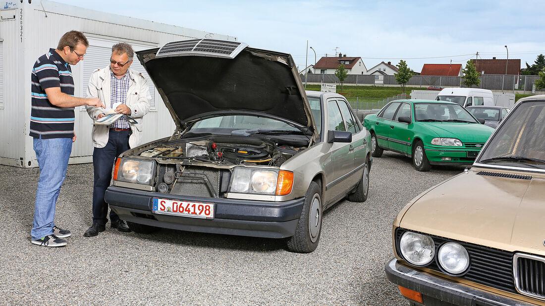 Mercedes 260 E, Alf Cremers, Verkauf, Kiesplatz, Impressionen
