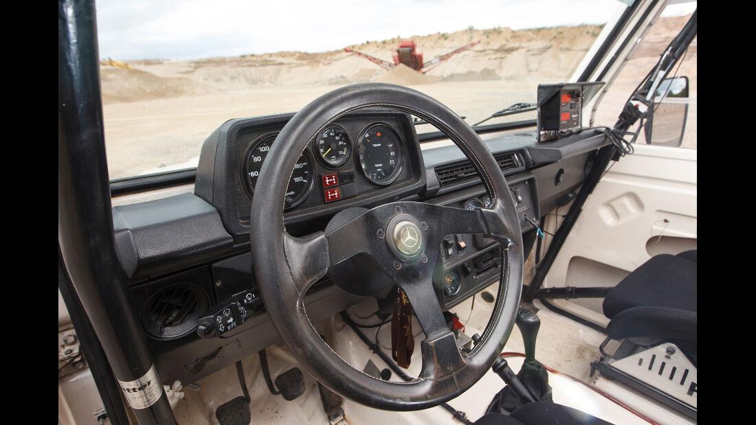 Mercedes 280 GE Dakar, Cockpit, Lenkrad