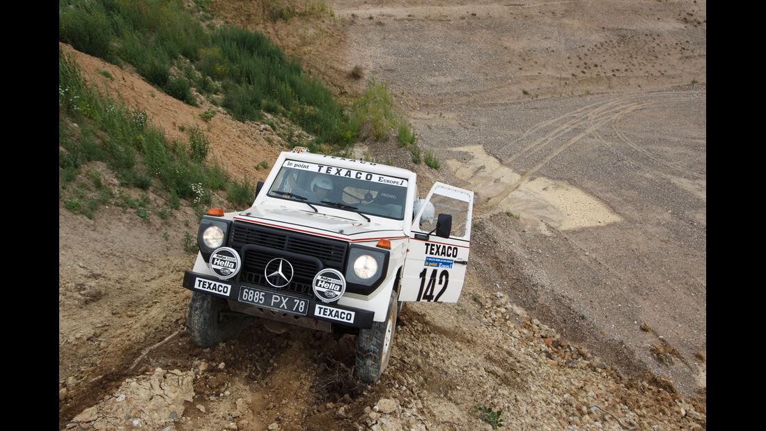Mercedes 280 GE Dakar, Frontansicht, Bergauffahrt