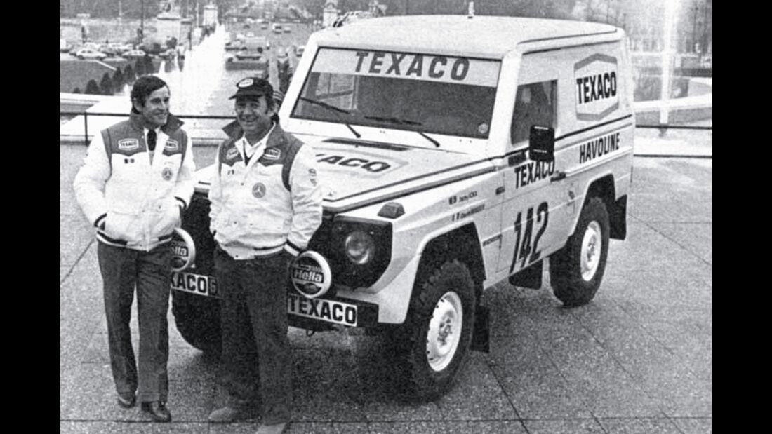 Mercedes 280 GE Dakar, Jacky Ickx, Claude Brasseur