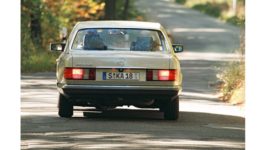 Mercedes 280 SE, Heck, Heckleuchten