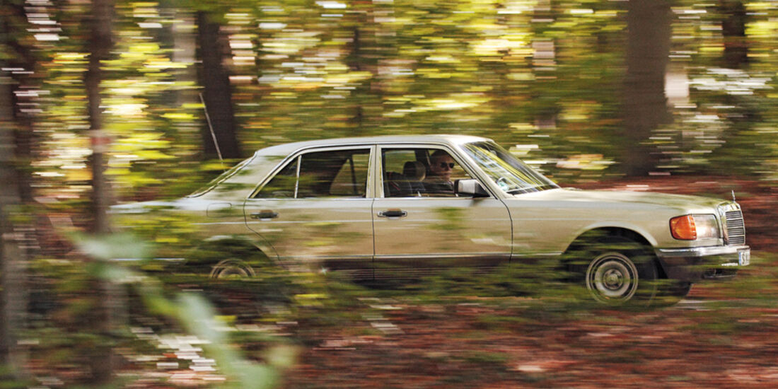 Mercedes 280 SE, Seitenansicht