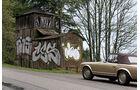 Mercedes 280 SL, verwitterte Hütte