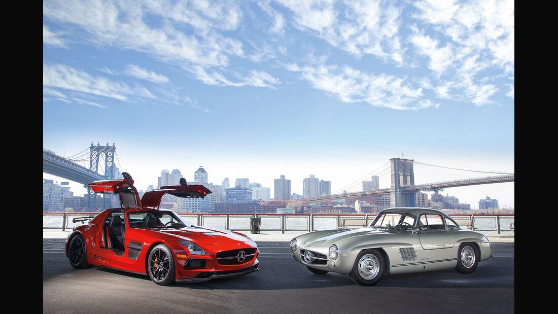 Mercedes 300 SL, Mercedes SLS AMG Black Series, New York, Impression