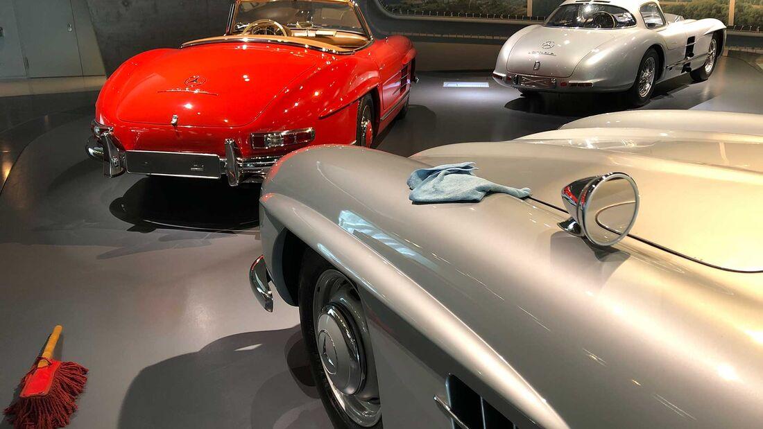 Mercedes 300 SL W 198 Flügeltürer Museum Innenraum