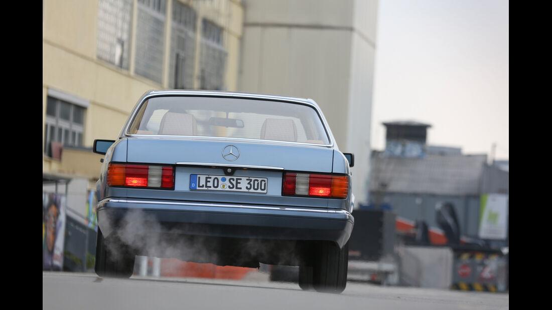 Mercedes 380 SE–560 SEL (W126), Heckansicht