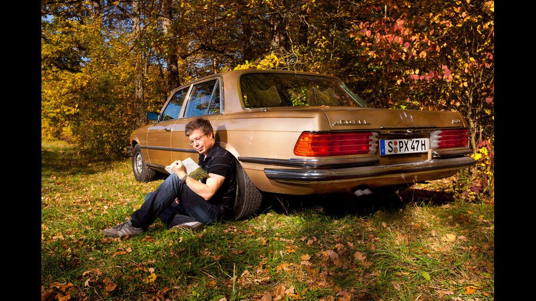 Mercedes 450 SEL 6.9, Heckansicht, Dirk Gulde