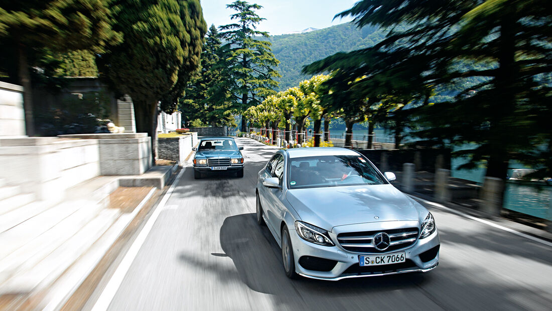 Mercedes 450 SEL 6.9, Mercedes C 250 Bluetec, Frontansicht