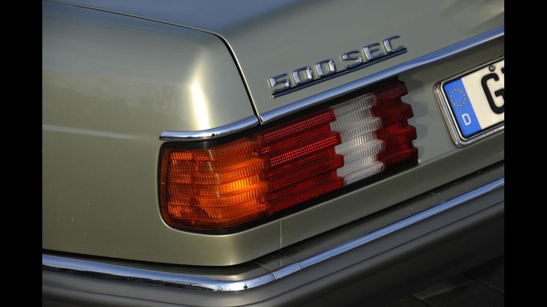 Mercedes 500 SEC, Rücklicht