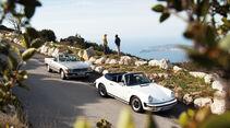 Mercedes 500 SL, Porsche 911 Carrera Cabriolet, Côte d'Azur