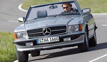 Mercedes 500 SL (R107), Frontansicht