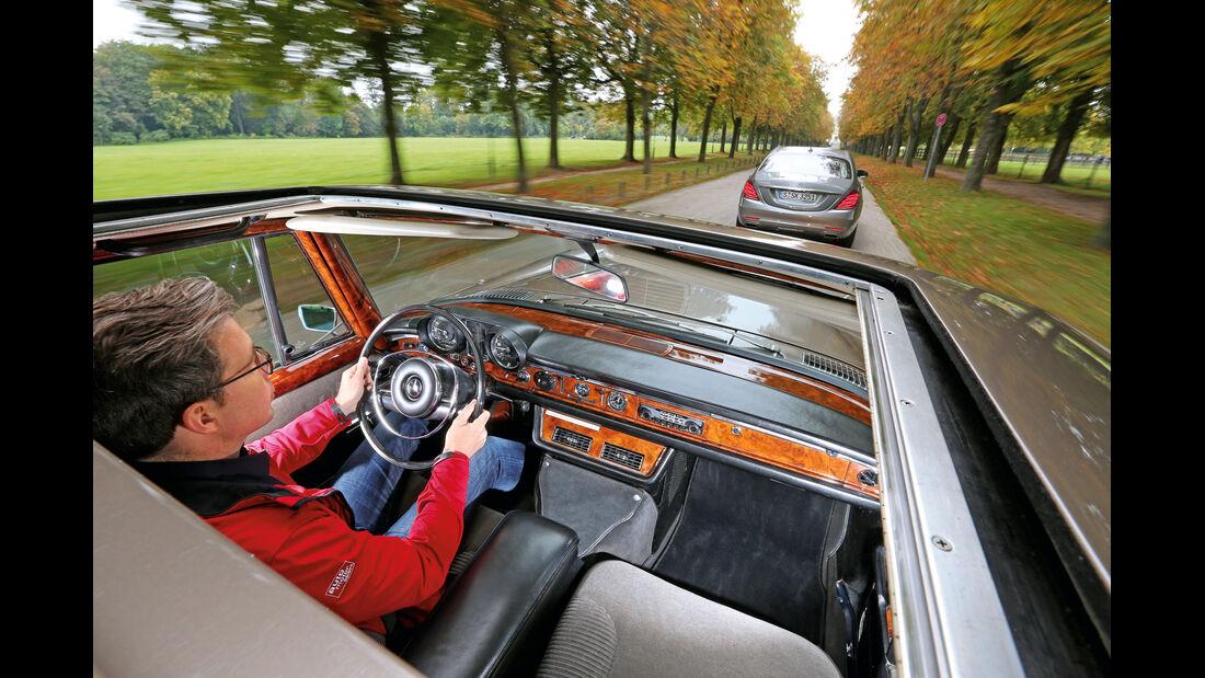Mercedes 600, S 500, Fahrersicht
