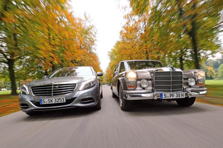 Mercedes 600, S 500, Frontansicht