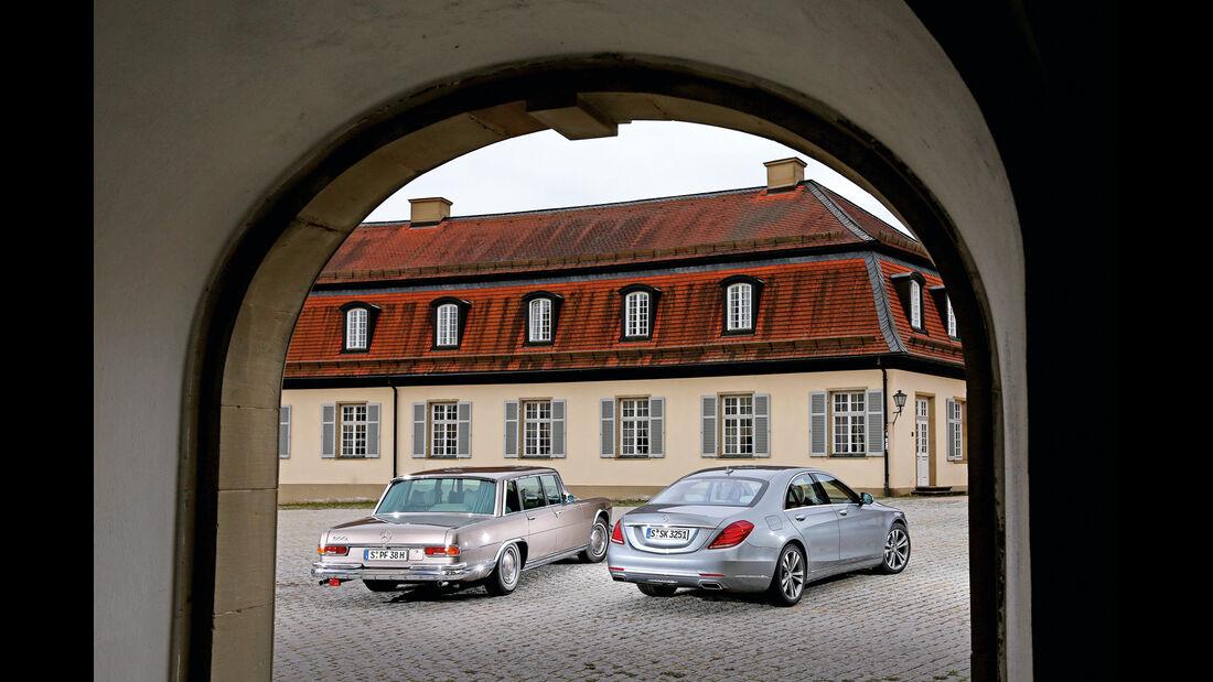 Mercedes 600, S 500, Heckansicht