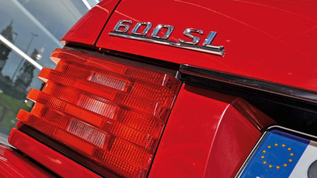 Mercedes 600 SL, Heckleuchte, Typenbezeichnung