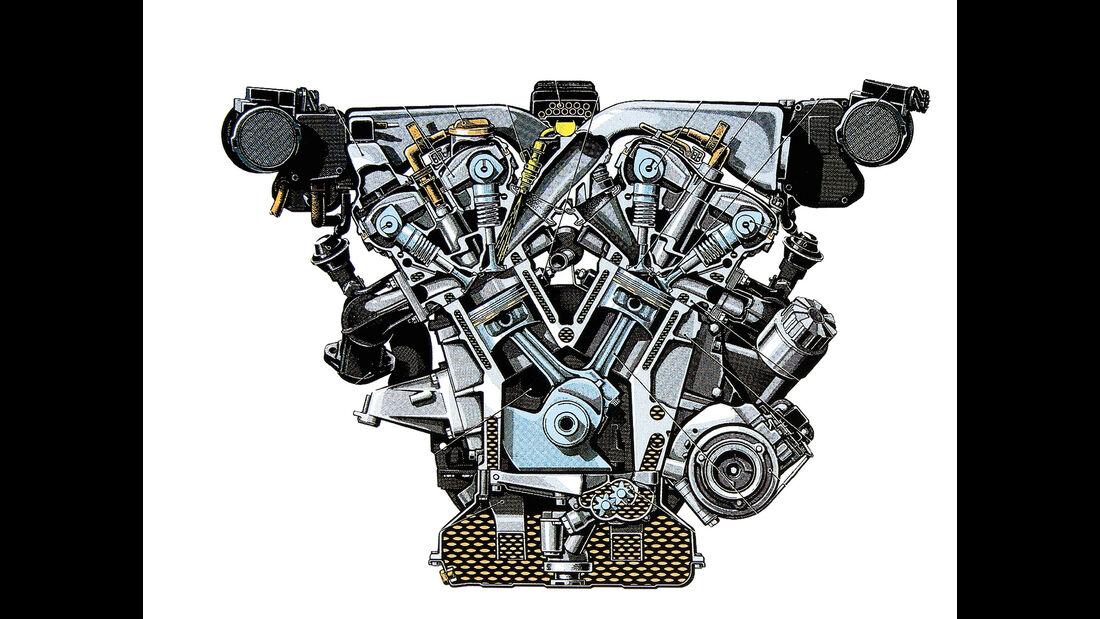 Mercedes 600 SL, SL 600, Motor
