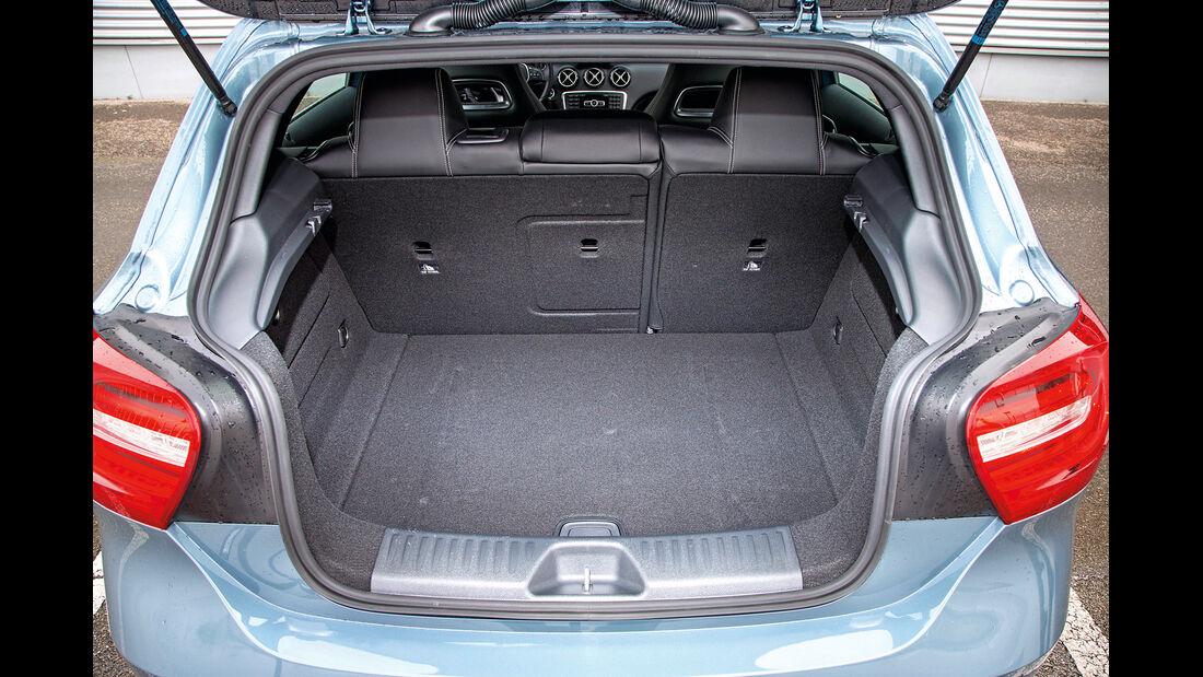 Mercedes A 160 CDI, Kofferraum, Ladefläche