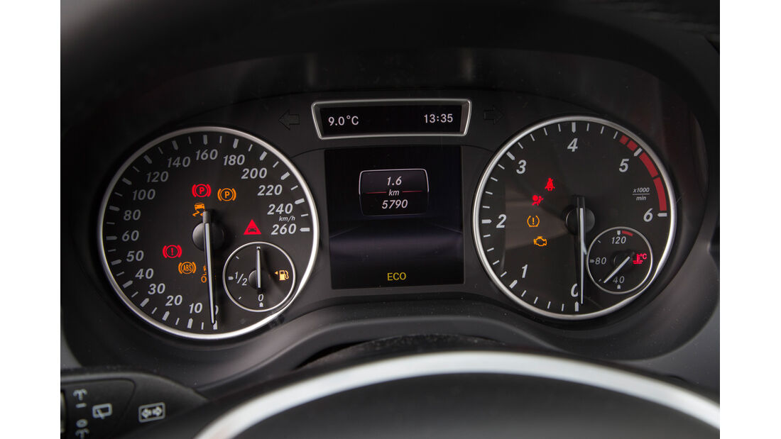 Mercedes A 160 CDI, Rundinstrumente