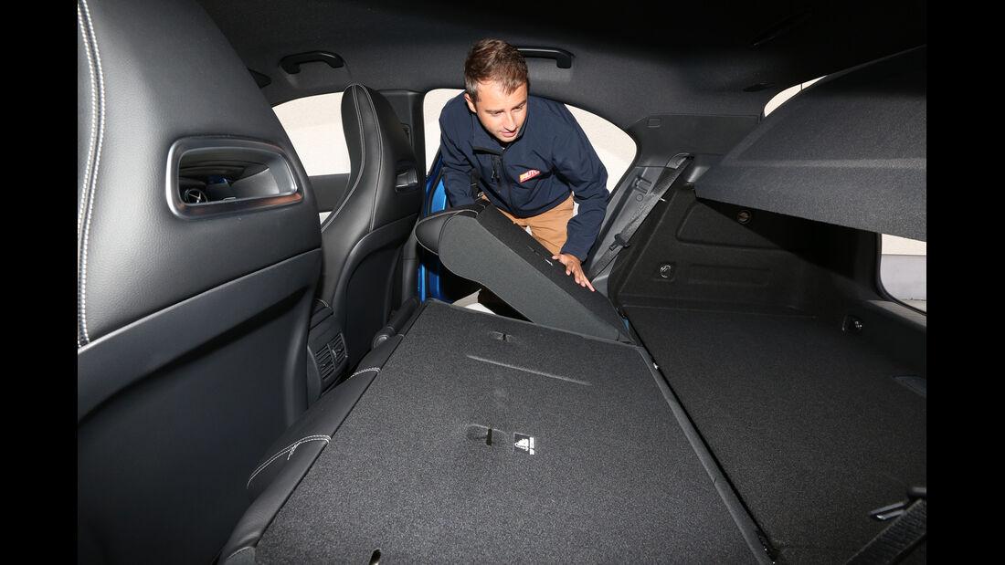 Mercedes A 180 CDI, Sitze, Umklappen