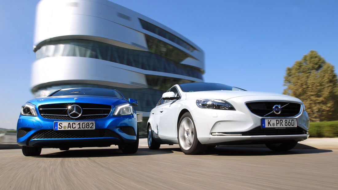 Mercedes A 180, Volvo V40 T2, Frontansicht
