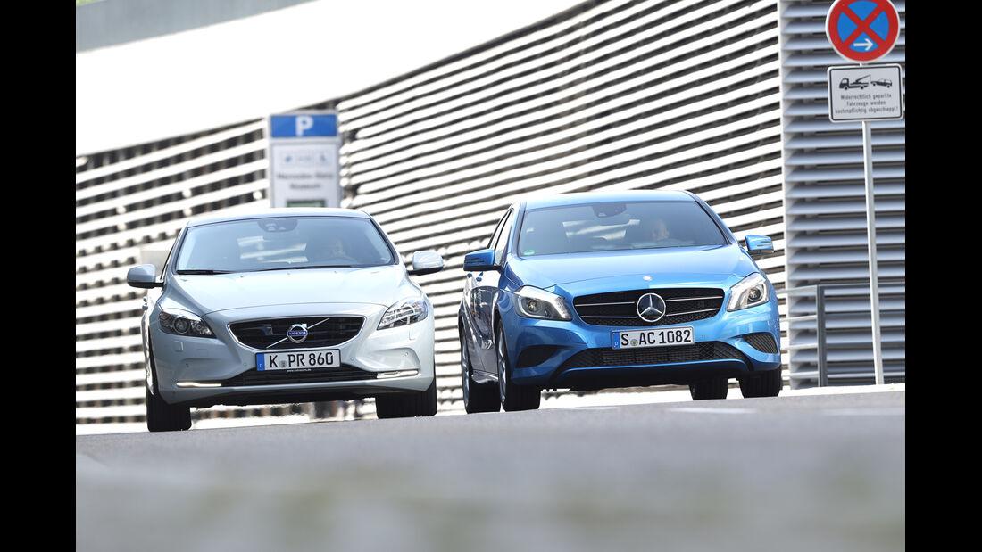 Mercedes A 180, Volvo V40 T2, Frontansicht