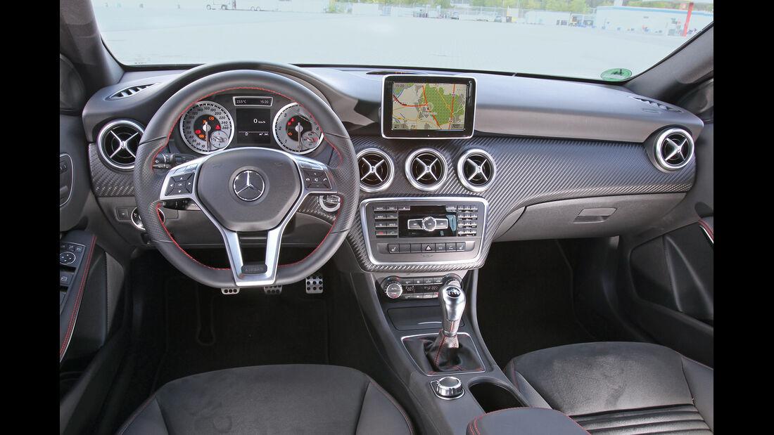 Mercedes A 200 CDI AMG Sport, Cockpit, Lenkrad