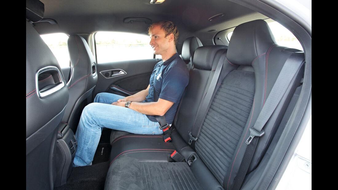 Mercedes A 200 CDI AMG Sport, Rücksitz, Fond