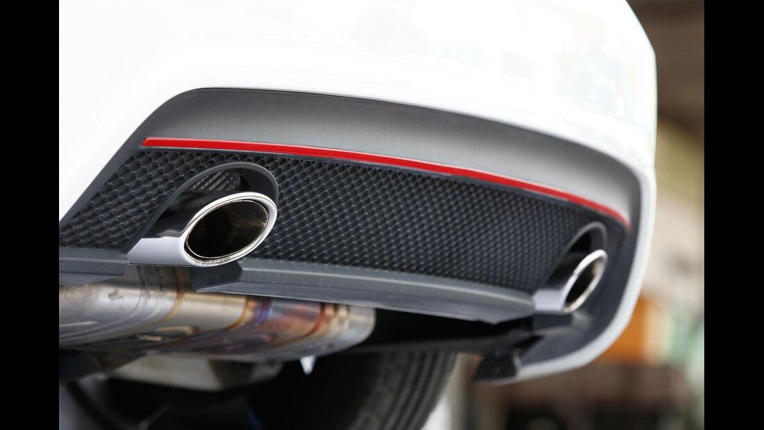 Mercedes A 250 Sport, Endrohre, Auspuff