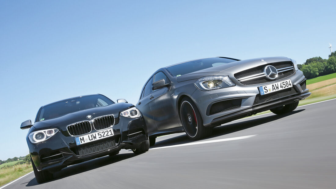 Mercedes A 45 AMG, BMW M135i xDrive, Frontansicht
