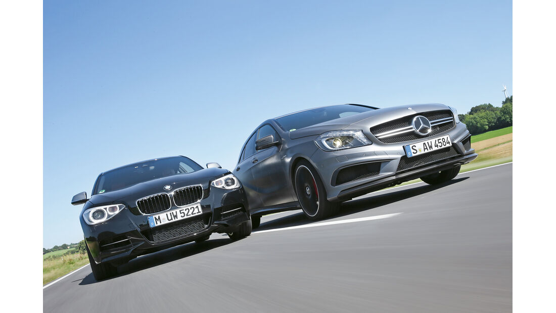 Mercedes A 45 AMG, BMW M135i xDrive, Frontansicht