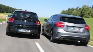 Mercedes A 45 AMG, BMW M135i xDrive, Seite